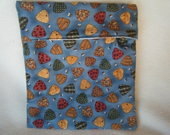 Blue With Beehives and Bees Microwave Bake Potato Bag