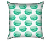 """Macaron in Turquoise - Original Pattern Sofa Throw Pillow Envelope Cover for 18"""" inserts"""