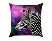 Outer Space Zebra - Original Graphic Sofa Throw Pillow