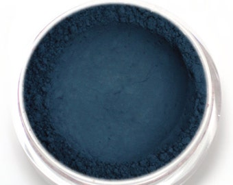 "Matte Blue Eyeshadow - ""Nightshade"" - Dark Navy Blue Vegan Mineral Eyeshadow Net Wt 2g Natural Eye Shadow Pigment"