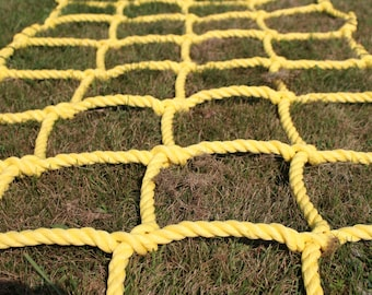 """Climbing net cargo net made from 3/4"""" heavy duty poly rope Choose a size"""