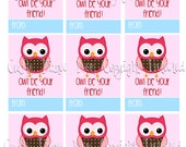 Owl Be Your Friend Printable Valentine's Day Cards