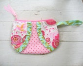SALE Pink Woodland Zipper clutch, wedding , bridesmaid gifts, zipper bag, ready to ship