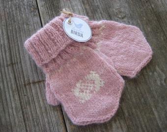 Alpaca Baby Mittens ROSEBUD