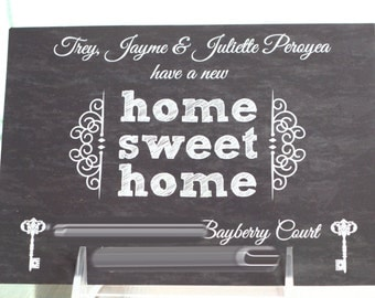 WEVE MOVED Card, Home SWEET home Card, New Home Card,  Chalkboard Card