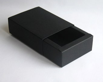 Set of 10, Black Gift Box, Favor, Gift, Party
