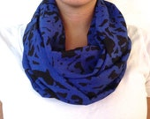 Blue and Black Infinity Scarf
