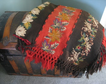 Victorian Hand Knit Afghan Carriage Blanket