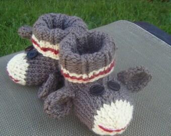Knitting Pattern For Sock Monkey Booties : Popular items for sock monkey booties on Etsy