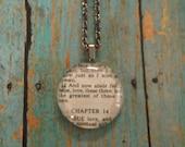 1 Corinthians 13:13 Handcrafted Scripture Pendant