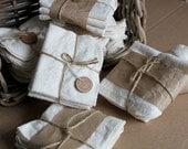 Wash Clothes / Soft Natural Cotton Flannel / Baby Wash / Handkerchief / Bath time