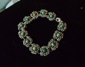 Turquoise Byzantine Romanov Bracelet