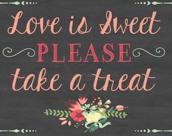 Wedding Chalkboard Sign Printable, Wedding Favors, diy, floral, vintage, rustic, chic wedding chalkboard