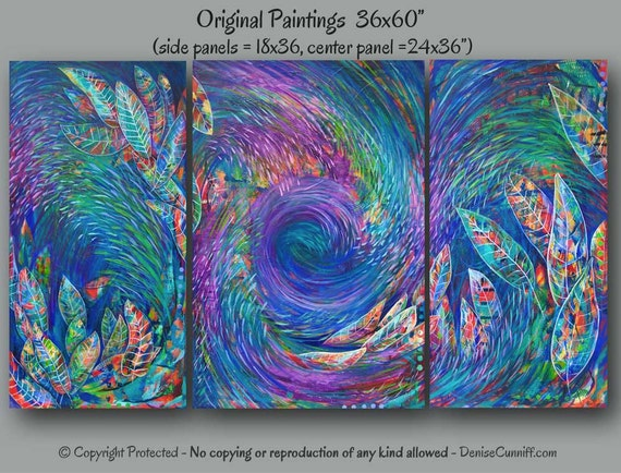 Colorful Oversized Abstract Paintings Large Wall Art Huge
