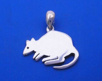 Silver Quokka Pendant , Hand Made Solid Silver , Silver  Jewelry Jewellery