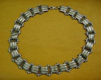 "Sterling Silver Vintage 18"" Choker Necklace"