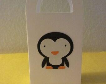 12 Mini Penguin gift box/bag,  favor bags, mini favor bags