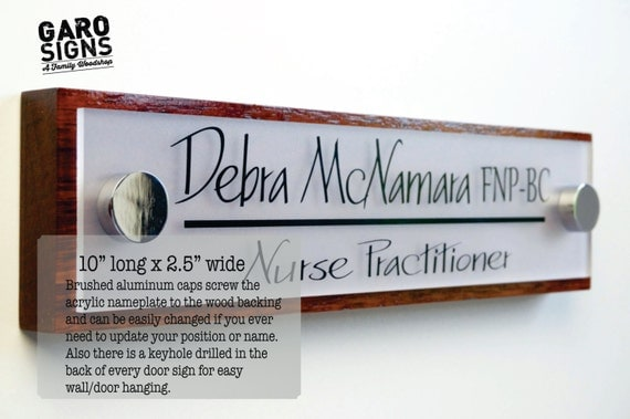 Office Door Sign: Professional Personalized Wood Sign Gift 10 x 2.5 & Office Door Sign: Professional Personalized Wood Sign Gift 10 Pezcame.Com