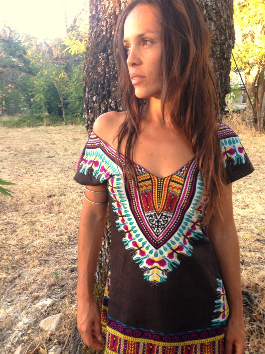 enchanted brown day tripper dress tunic hippie burning man. Black Bedroom Furniture Sets. Home Design Ideas