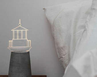 Nautical lamp, Lighthouse lamp, grey concrete lamp, nautical home decor, lighthouse decor