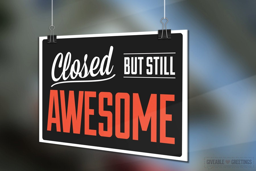 Double Sided Open Closed Funny Retail Store Sign Come In