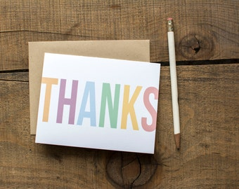 Sweet Pastels Thank You Cards - Set of 8