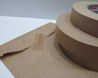 """Kraft Tape, Kraft Masking Tape, Large Roll KRAFT Tape, Paper Masking Tape - 1"""" wide x 180 feet / 60 yards"""