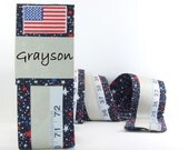 CHILD'S GROWTH CHART -  Christmas Keepsake Gift -Patriotic - Fabric Growth Chart