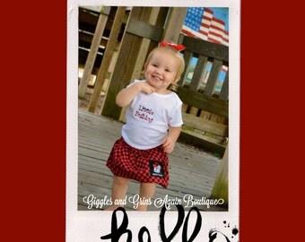 Little Bulldog - UGA Twirl Skirt Set  - 6 to 24 months Bodysuit and 2-6* Tee shirts and Twirl Skirts