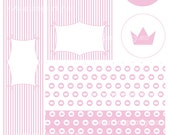 Printable party pack Pink princess
