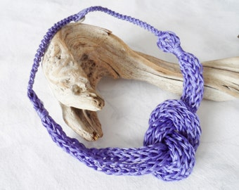 Purple crochet necklace, handmade,new accessory