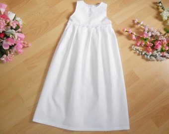 Cotton Christening Gown with Lace and Cross , 100% cotton,varioussizes / motives