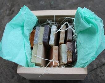 Belle Savon Vermont Artisan Soap Gift Set in VT Wooden Box- Belle Savon Vermont