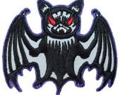 Evil Vampire Bat Blood-Sucking Gothic Halloween Creature Iron On Applique Patch