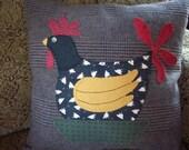 Folk Art Rooster Pillow Slipcover