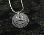 Custom New Mother Necklace - 2 Disc Stainless Steel Necklace