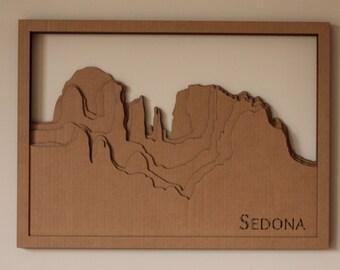Sedona cardboard art