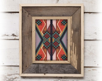 Tribal Pattern Art Print - Southwestern - Aztec - Native American - Navajo 8 x 10 Modern home decor wall art Eco Art
