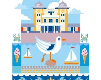 Penarth Pavillion illustration print
