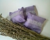 Lavender Drawer Sachet - Taffeta Pillow filled with Home-Grown Dried Organic Lavender for Lingerie Drawers - Scented/Fragrance Item