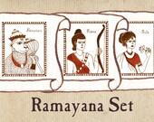 "Ramayana Nursery Art - ""Ramayana"" Set of 3"