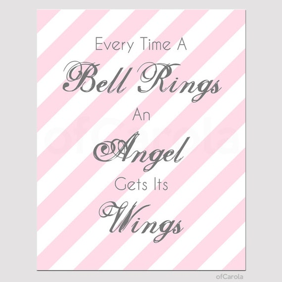 Items similar to Every Time A Bell Rings An Angel Gets Its ...