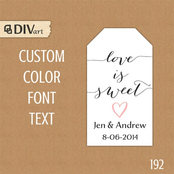 Rare image within printable wedding favor tags
