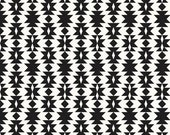 fitted crib sheet in black and white tribal