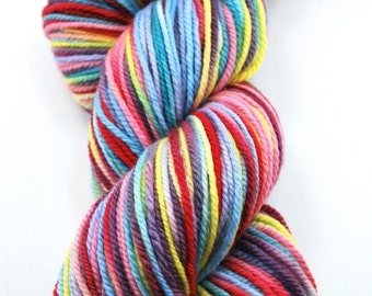 Hand painted 3-ply Uruguay merino - Cold Spring