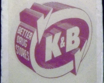 K and B Drug Store Logo Coaster