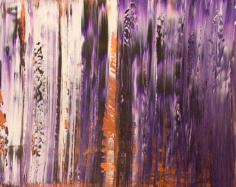 """Original Abstract Art Painting -""""Always on Time"""""""