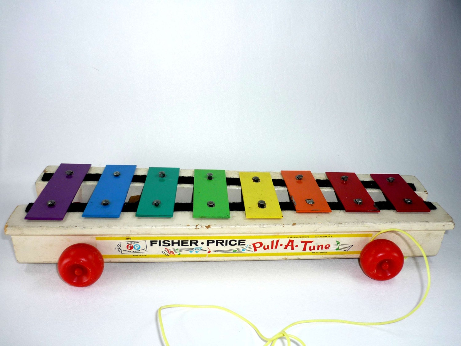 Vintage Fisher Price Pull a Tune Pull Toy by ChromaticWit on Etsy