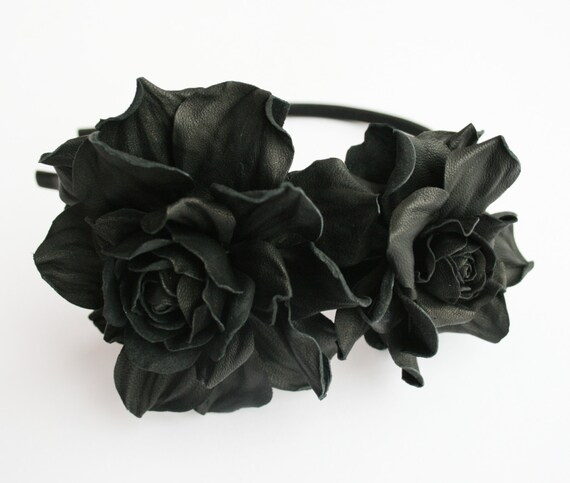Black Leather Headband