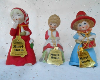 Christmas decor / Christmas Bells / Merri Bells / Jasco Bells / Price is for ONE bell /  Reasonably Priced / MissMarigolds